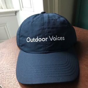 NWT Outdoor Voices navy blue embroidered hat